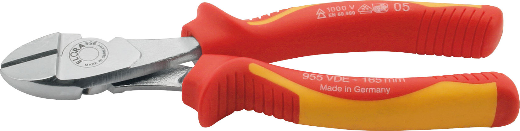 ELORA VDE-Heavy duty diagonal cutter with 2-component safety handles, ELORA-955-160