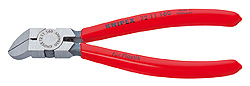 KNIPEX Diagonal Cutter for plastics polished plastic coated 160 mm