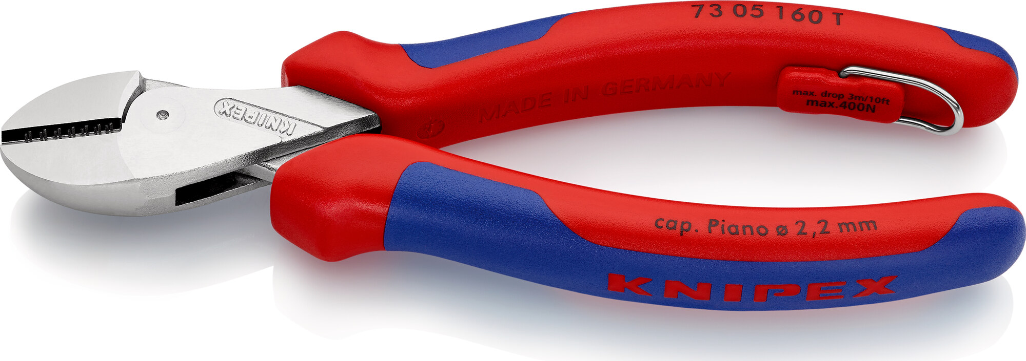 KNIPEX KNIPEX X-Cut® with tether attachment point with multi-component grips 160 mm