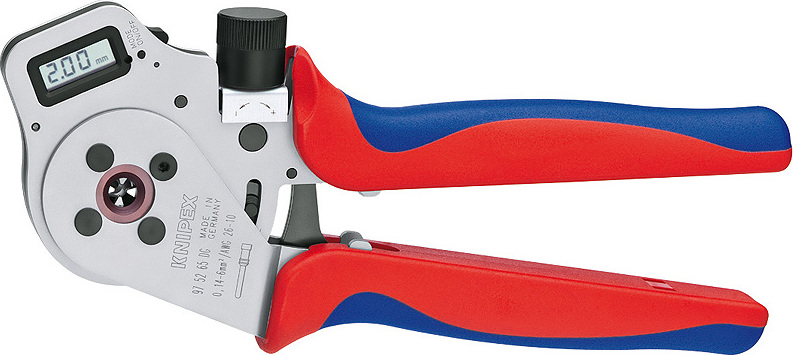 KNIPEX Four-Mandrel Crimping Pliers for turned contacts 250 mm