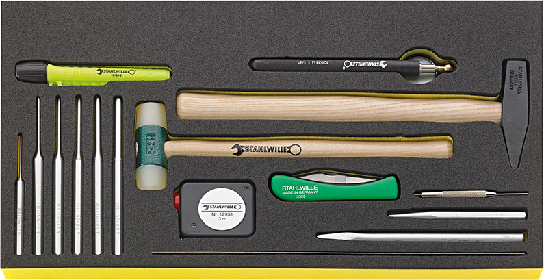 Stahlwille TCS WT 102-109/16 Hammer, chisels etc. in TCS inlay